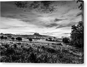 Tuscany In Bw Canvas Print by Yuri Santin