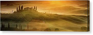 Tuscany In Golden Canvas Print by Evgeni Dinev