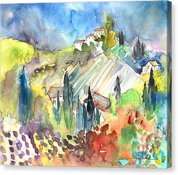 Tuscany Landscape 03 Canvas Print by Miki De Goodaboom