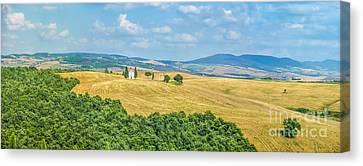 Tuscany Landscape With Famous Cappella Della Madonna Di Vitaleta Canvas Print by JR Photography