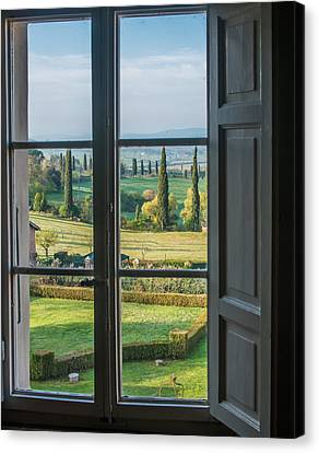 Tuscany Out My Window Canvas Print
