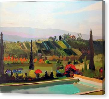 Tuscany Pool Canvas Print by Brad Burns