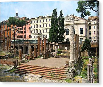 Tuscany- Roman Forum Canvas Print by Italian Art