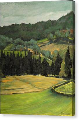 Tuscany View Canvas Print