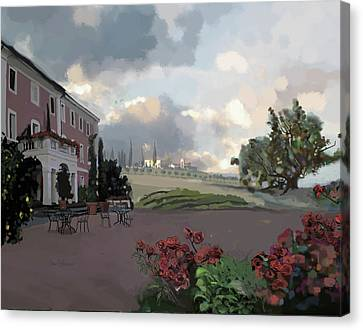 Tuscany Villa Canvas Print by Brad Burns