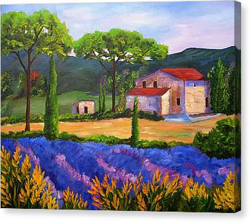 Tuscany Villa Canvas Print by Mary Jo Zorad