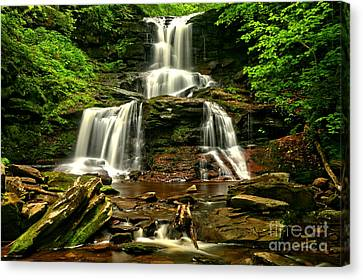 Tuscarora Falls Rocky Cascades Canvas Print