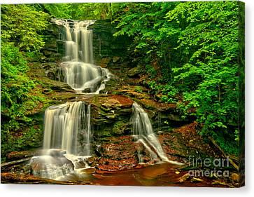 Tuscarora Falls Spring Cascades Canvas Print