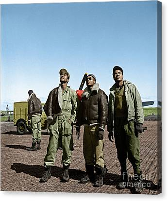 Canvas Print featuring the photograph Tuskegee Airmen by Granger