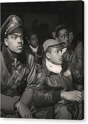 Race Discrimination Canvas Print - Tuskegee Airmen Of The 332nd Fighter by Everett