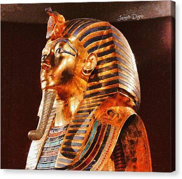 Tutankhamun Golden Mask Canvas Print by Leonardo Digenio