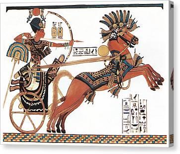 Tutankhamun In His Chariot Canvas Print