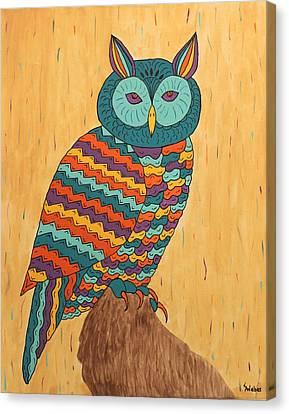 Tutie Fruitie Hootie Owl Canvas Print by Susie WEBER