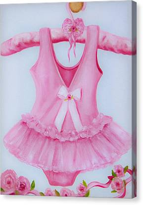 Tutu With Ribbon Canvas Print
