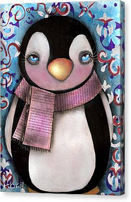 Tuxedo  Canvas Print by  Abril Andrade Griffith