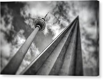 Deutschland Canvas Print - Tv Tower Alexanderplatz Berlin  by Carol Japp