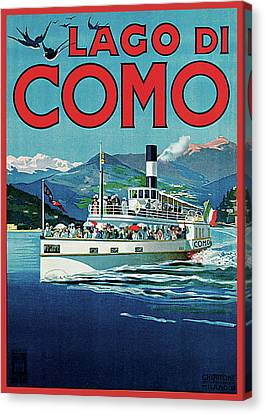 Lago Di Como Canvas Print by Unknown Artist
