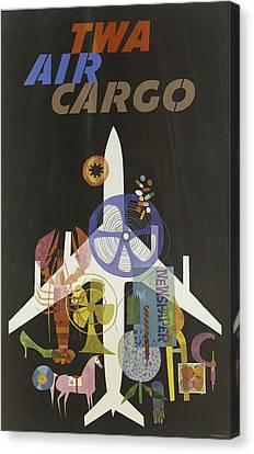 Twa Air Cargo Canvas Print by David Wagner