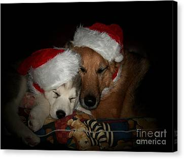 Twas The Night Before Christmas Canvas Print by Marjorie Imbeau