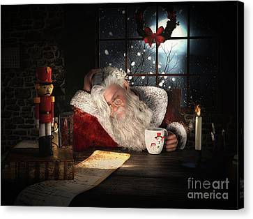 Twas The Night Before Christmas Canvas Print by Shanina Conway