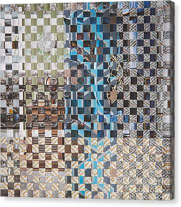 Canvas Print featuring the mixed media Tweed by Jan Bickerton