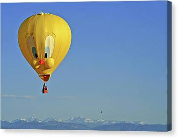 Tweety Balloon Canvas Print by Scott Mahon