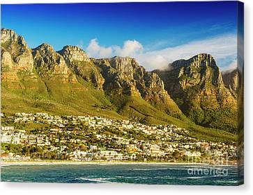 Twelve Apostles In South Africa Canvas Print by Tim Hester