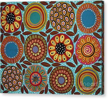 Twelve Blooms Canvas Print by Karla Gerard