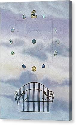 Canvas Print featuring the painting Twelve by Laurie Stewart