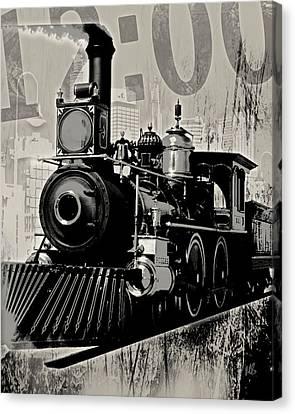 Twelve Pm Train 2 Canvas Print