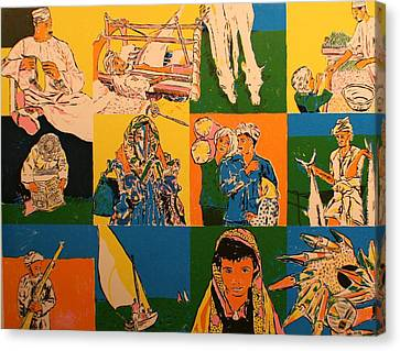 Twelve Scened From Middle East Canvas Print by Biagio Civale