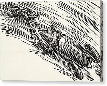 Old Car Canvas Print - Twenties Motor Racing by German School