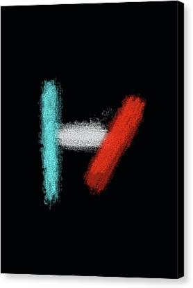 Twenty One Pilots Black Abstract Canvas Print