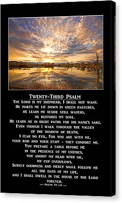 Twenty-third Psalm Prayer Canvas Print by James BO  Insogna