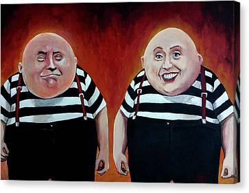 Twiddledee And Twiddledumb Canvas Print by Tom Carlton