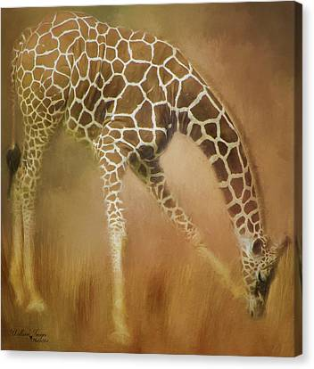 Canvas Print featuring the photograph Twiga Kiswahili For Giraffe by Wallaroo Images