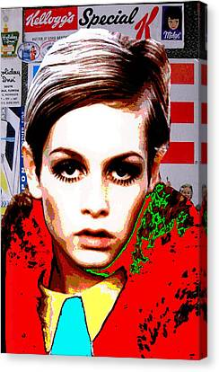 Twiggy Canvas Print - Twigg 2 by Chandler  Douglas