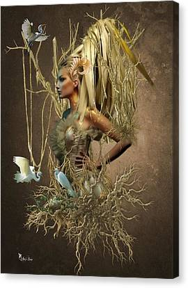 Twiggy Canvas Print by Ali Oppy