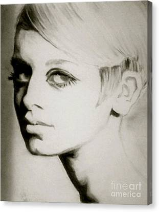 Twiggy  Canvas Print by Amber Harvin