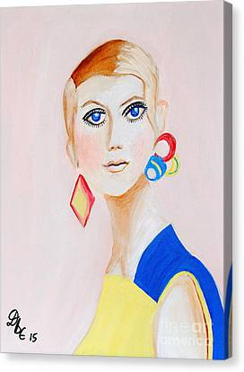 Twiggy Canvas Print by Art by Danielle