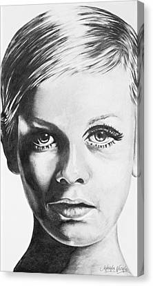 Twiggy Canvas Print by Jeleata Nicole