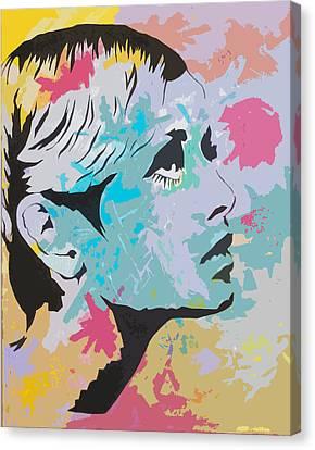 Twiggy Pop Art Portrait Canvas Print