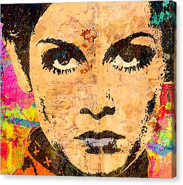 Twiggy Popped 2 Canvas Print by Otis Porritt