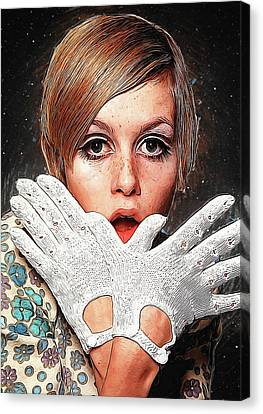 Twiggy Canvas Print - Twiggy by Semih Yurdabak