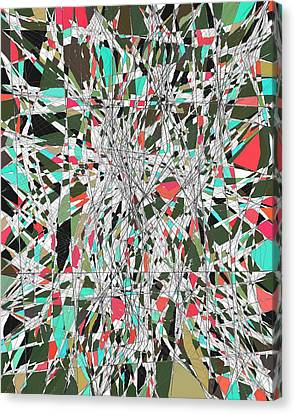 Twiggy Stained Glass 9-1-2015 #1 Canvas Print by Steven Harry Markowitz