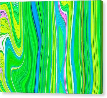 Twiggy Stripes V3 C2014 Paul Ashby Canvas Print by Paul Ashby
