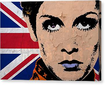 Twiggy-uk Pop Canvas Print by Otis Porritt