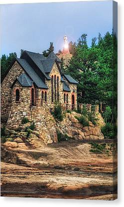 Twilight At Chapel On The Rock Canvas Print by Juli Ellen