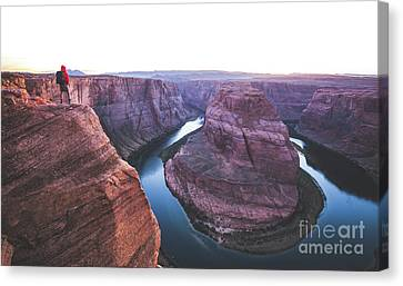 Twilight At Horseshoe Bend Canvas Print by JR Photography