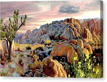 Twilight At Joshua Canvas Print by Ron Chambers